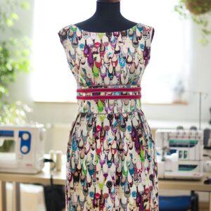 Kurs szycia - letnia sukienka z satyny bawełnianej