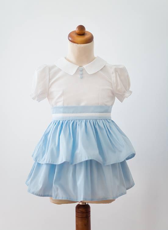 Kursz szycia - sukienka dla dziewczynki - jedwabna tafta