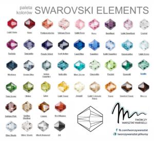 Paleta kolorów kryształów Swarovskiego