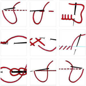 Rodzaje ściegów ręcznych - instrukcja - DIY