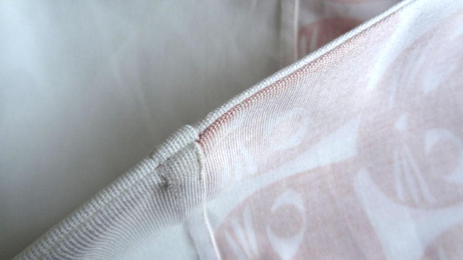Szycie torby - tutorial - złożenie szwu