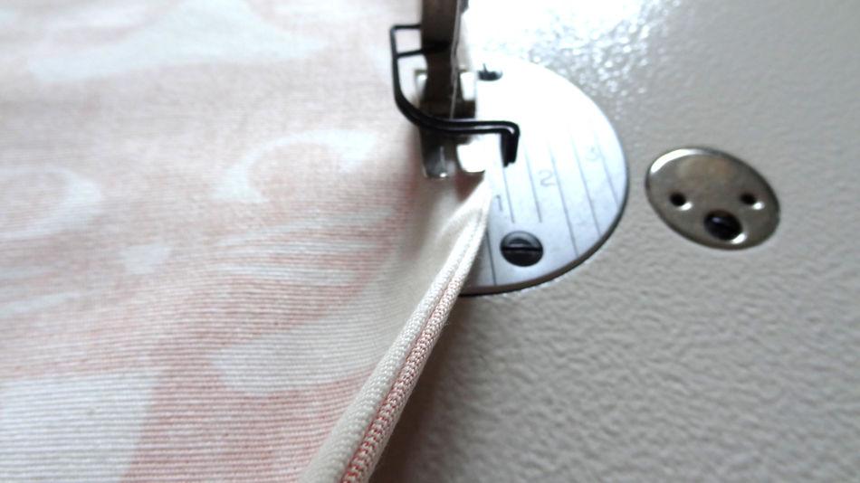 Szycie torby - tutorial - przeszycie na lewej stronie