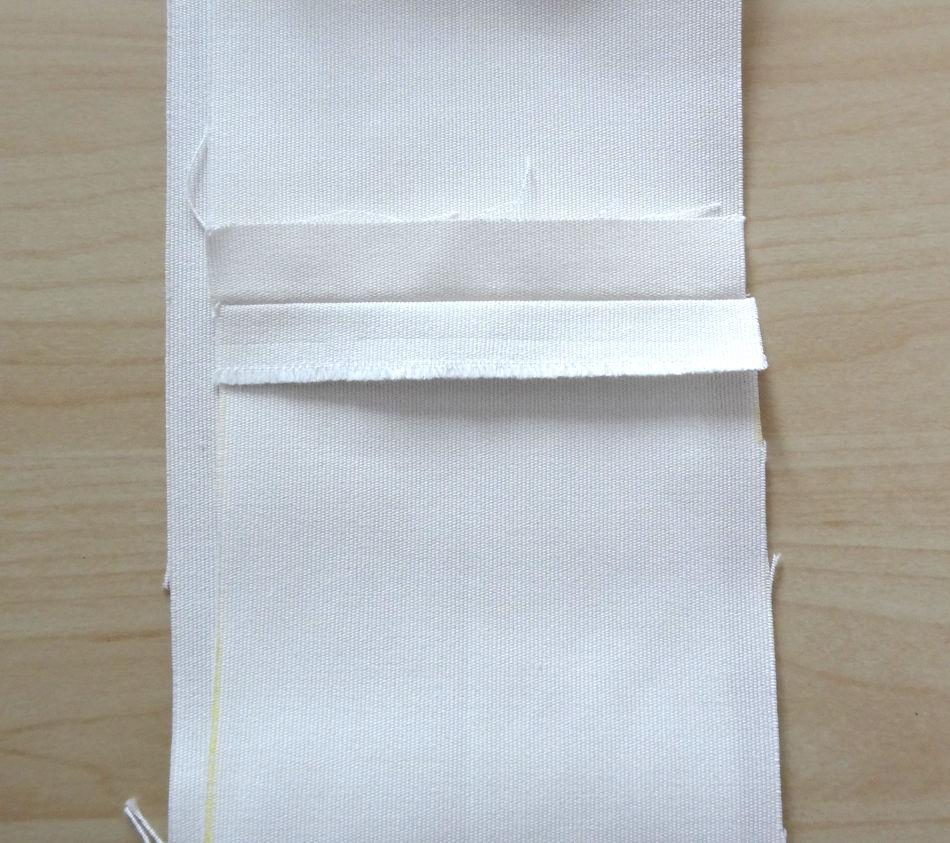 Szycie torby - tutorial - rozprasowanie szwu