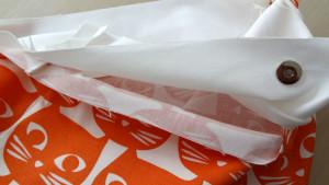 Szycie torby - tutorial - ułożenie plisy