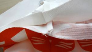 Szycie torby - tutorial - ułożenie plisy i zgodność szwów
