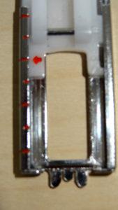 Stopka do dziergania dziurek, regulacja długości