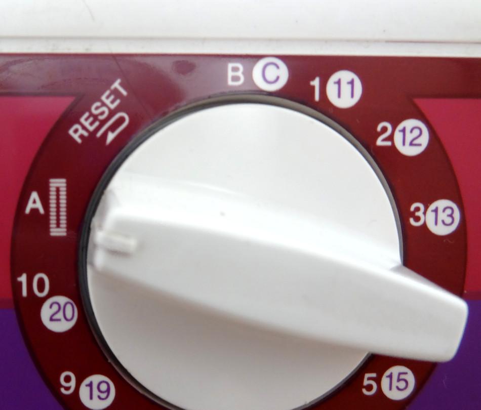 Dzierganie dziurki, automat, wybieranie funkcji
