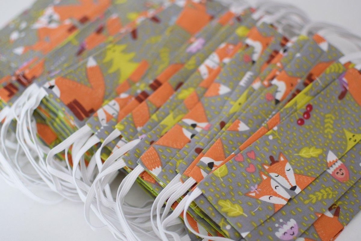 Maseczki ochronne bawełniane dla szpitala Żeromskiego