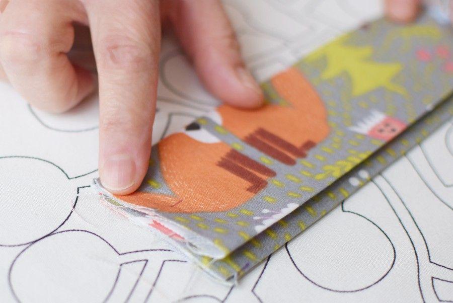 Szycie maseczki bawełnianej - tutorial - formowanie zakładek - ciąg dalszy