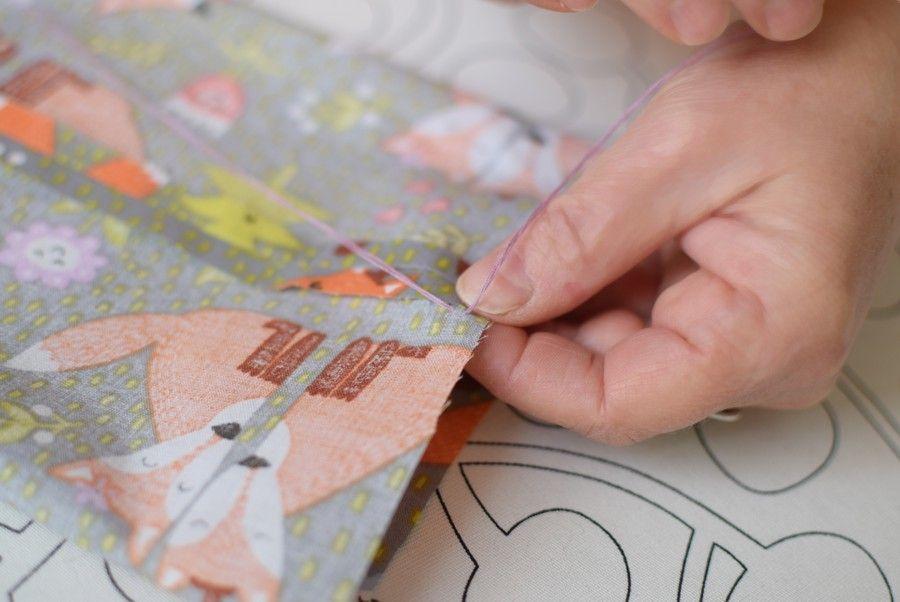 Szycie maseczki bawełnianej - tutorial - szycie ręczne - szew zakopiański