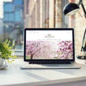 Strona na gotowo - motyw Magnolia